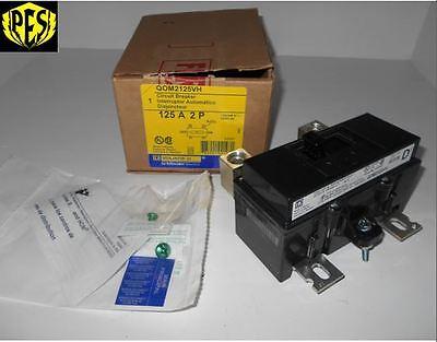 New In Box Square D Qom2125vh 2 Pole 125 Amp 120240v Circuit Breaker 22k Nib