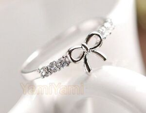 Lovely-Cute-Fashion-Sweet-Bowknot-BOW-Ring-Rings-Silvery