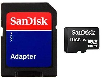 SanDisk 16GB microSD 16G microSDHC Class 4 C4 microSD SD SDHC Card w/a BULK