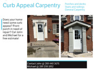 Curb Appeal Carpentry, Hamilton and surrounding areas