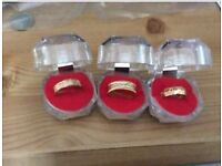 New 3 gold rings 21ct
