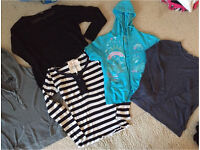 Long and short sleeved tops/jumpers all size 12