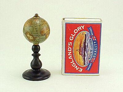 C19th. Tiny Miniature 1 INCH Terrestrial Globe PAPER GORES