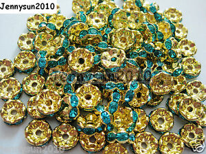 100Pcs Czech Crystal Rhinestone Wavy Rondelle Spacer Beads 4mm 5mm 6mm 8mm 10mm