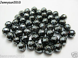 100pcs-Natural-Hematite-Gemstone-Faceted-Round-Beads-2mm-3mm-4mm-6mm-8mm-10mm