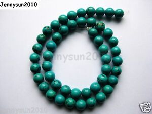 Natural Turquoise Gemstone Round Beads 16'' Strand 2mm 3mm 4mm 6mm 8mm 10mm 12mm
