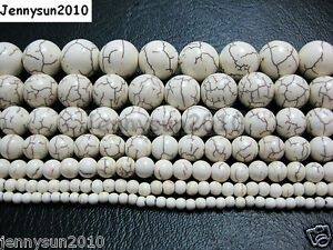White-Howlite-Turquoise-Gemstone-Round-Beads-16-3mm-4mm-6mm-8mm-10mm-12mm-14mm