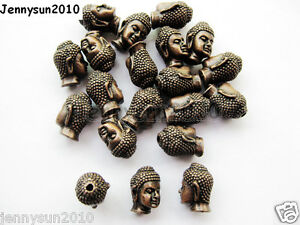 20Pcs Solid Metal Buddha Head Bracelet Connector Charm Beads Silver Gold Copper