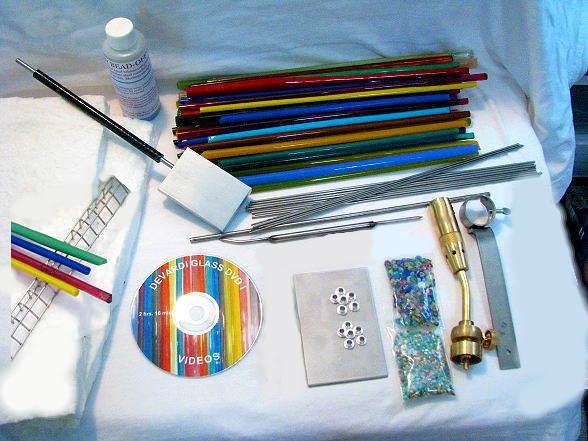 Devardi Glass Lampwork Hot Starter Kit w/ Torch Head Intermediate