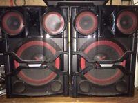 Lg cm 9740 X Boom speakers no amp