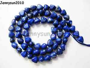 Natural Lapis Lazuli Gemstone Nugget Loose Spacer Beads 16'' Triangle & Oval