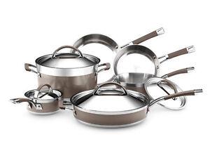New kitchenaid 30651 architect clad 10 piece cookware pot pan set - Kitchen aid pan set ...