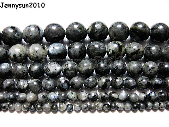 Natural Larvikite Labradorite Gemstone Round Beads 16