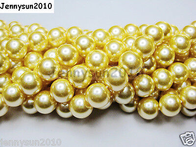 100pcs Top Quality Czech Glass Pearl Round Loose Beads 4mm 6mm 8mm 10mm 12mm on Rummage
