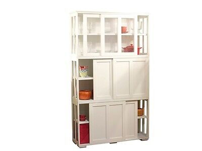 Modern Kitchen Cabinets Dining Storage Buffet Shelf Table Stackable Furniture