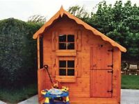 Deluxe Playhouse Tongue & Groove Garden Shed All Sizes From £715 Inc Delivery & Erection 01619629127
