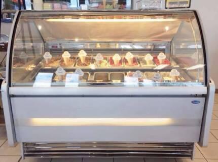 16 flavour Gelato Display Freezer plus Stock Freezer .