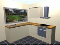 New Fitted Kitchen Units Cabinets.Not Ex Display or Showroom-Cream Gloss Handleless Doors