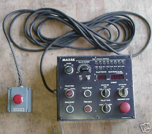 Mazak HMC H15 One Cycle Switch Pallet Changer Control w/Corded Emergency Stop