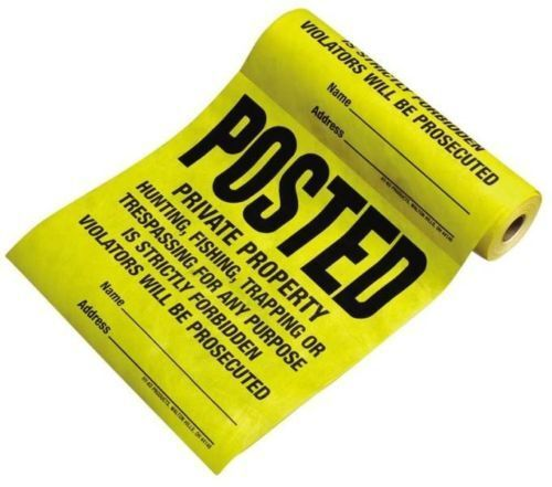 HY-KO TSR-100 BRAND NEW 100 COUNT ROLL SIGN TYVEK POSTED 12X12 SIGNS SALE