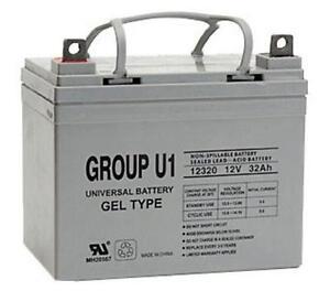 UPG 12V 32Ah Gel Cell Scooter Battery Pride Mobility Group U1