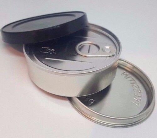 Cali Pop Tops Pressitin Press it in Self-seal Tuna Tins with Lids 100ml /  3 5g with RX labels | in Harrow, London | Gumtree