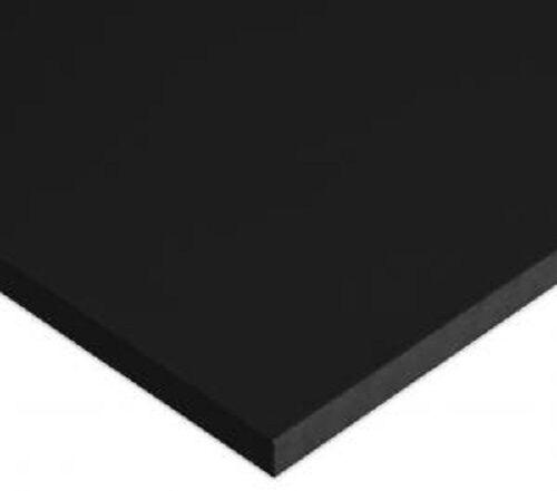"BLACK MARINE BOARD 3/4"" X 6"" X 12"" POLYMER HDPE SEA PLASTIC SHEET^"