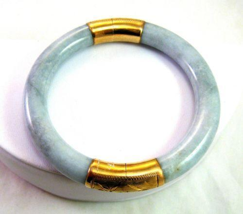 14k Gold Jade Bangle Ebay