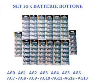 10 x batterie batteria bottone pile alcaline orologi 1 5v for Batterie orologi tabella
