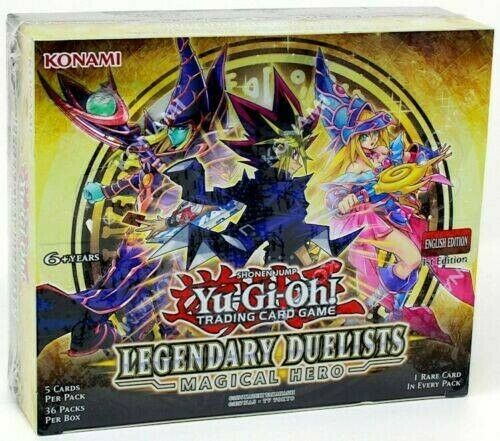 *YUGIOH FACTORY SEALED LEGENDARY DUELIST 6: MAGICAL HERO UNLIMITED BOOSTER BOX*