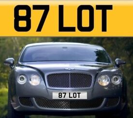 Cherished Number Plate 87 LOT - Auctioneers Personalised Registration - Charlotte