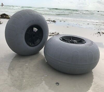 Kayak Cart & SUP Heavy Duty Beach Wheel 12-13 inch Low Pressure Sand Tire Pair