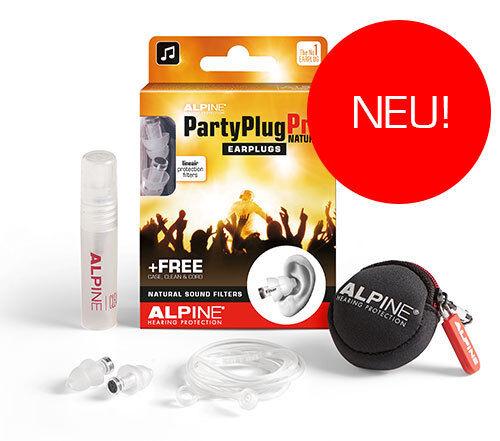 Alpine PartyPlug Pro Natural - Gehörschutz für Konzerte, Gratis Behälter