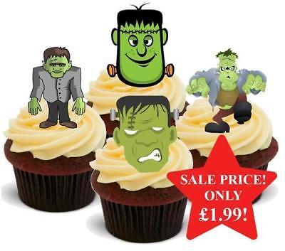 Halloween Frankenstein Mix Stand Up Premium Card Cake Toppers](Halloween Mix Up)