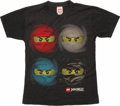NINJA T-Shirt Ninjago 4 Faces - Taglia XL - OFFICIAL MERCHANDISE - Ninjago Merchandise