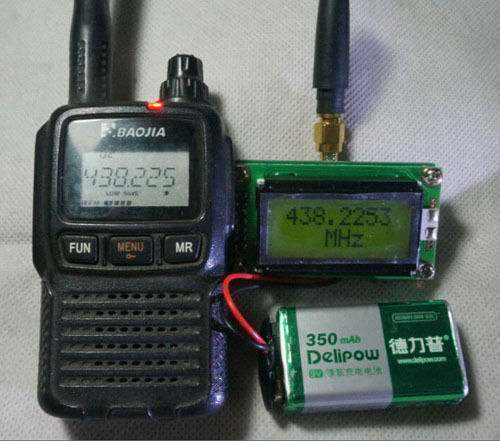 High Precision Frequency Counter with Antenna for Ham Radio Hobbist