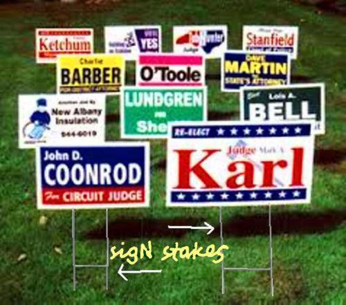 Yard Sign Stand Ebay