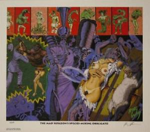 ROBERT WILLIAMS MAD SURGEONS SPECIES MIXING LIMITED EDITION LOWBROW PRINT SIGNED
