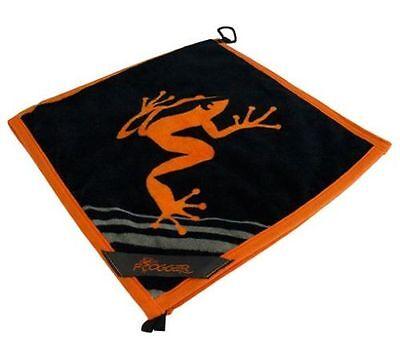 Frogger Amphibian Golf Towel Orange and Black Free Champ Golf Tees