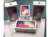 APPLE IPHONE X 64GB UNLOCKED BRAND NEW BOXED COMES WITH APPLE WARRANTY & RECEIPT
