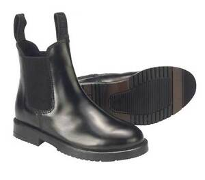 JODHPUR-BOOTS-childs-all-sizes-black-and-brown-leather-horse-riding-boots