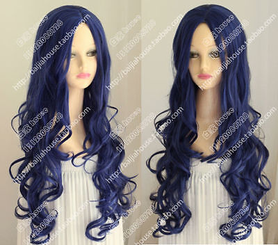 cosplay wig Corpse Bride Tim Burton's Corpse Bride Blue curly hair Halloween wig - Corpse Bride Halloween Wig