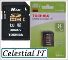 Toshiba SDHC 8GB Camera Memory Cards