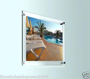 cadre photo acrylique transparent support mural affiche porte photo display ebay. Black Bedroom Furniture Sets. Home Design Ideas