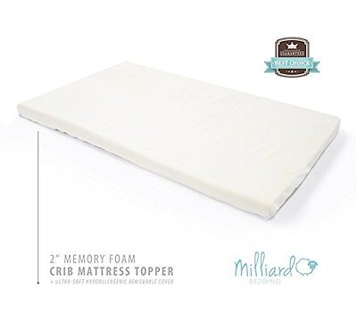 Milliard 2-Inch Ventilated Memory Foam Crib/Toddler Bed Matt