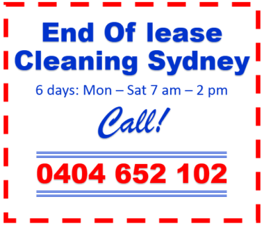 End Of Lease Cleaning Sydney Wide