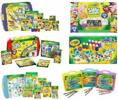 Crayola Colouring Tubs, Cases and Kits - Mega Activity, Silly Scents,