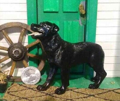 Custom CM Collecta by Breyer Rottweiler mix dog for Farm Dollhouse Horse Barn
