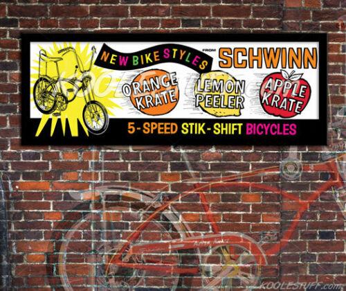 Schwinn Bicycle KRATE / STING-RAY Window Banner / Poster - SCHWINN APPROVED