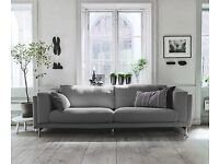 *DISCOUNT* IKEA Three -Seat Sofa NOCKEBY Grey super comfy, pickup in EC1A